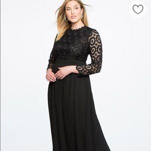 Black Lace Evening Dress
